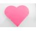 ROOST Haftnotizen, Herz 700213 rosa 80 Blatt