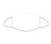 ROOST Mund-Nasen-Maske 9811 Weiss