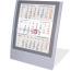 SATUREX Tischkalender 3 Mt. silber 5039-SA d/e/f/i/sp/nl 13x17,5cm, 2021