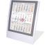 SATUREX Tischkalender 3-Mt. anthrazit 5039-WA d/e/f/i/sp/nl 13x17,5cm 2021