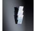 SIGEL Wand-Prospekthalter 3xDIN LH137 120x375x115mm acryl
