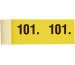 SIMPLEX Garderobenblock 101-200 13078 gelb 100 Blatt