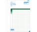 SIMPLEX Ausmassbuch A4 15071 grün 50x2 Blatt