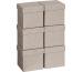 STEWO Geschenkbox 13.5x13.5x12.5cm 255161669 grau hell, CUBE