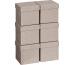 STEWO Geschenkbox 10x10x10cm 255161669 grau hell, CUBE