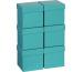 STEWO Geschenkbox 13.5x13.5x12.5cm 255164499 türkis One Colour