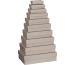 STEWO Geschenkbox 266x179x73mm 255361666 grau hell, One Colour 10 Stück