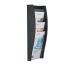 STYRO Wandprospekhalter A4 128-340.0 anthrazit 4 Fächer