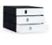 STYRO Schubladenbox PRO schwarz 14-805092 3 Fächer