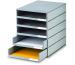 STYRO Schubladenbox grau 16-800185 5 Fächer