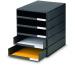 STYRO Schubladenbox schwarz 16-800190 5 Fächer