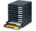 STYRO Schubladenbox schwarz 16-800290 10 Fächer