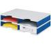 STYRO Schubladenbox Duo grau/blau 268-02021 4 Fächer