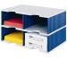 STYRO Schubladenbox Duo grau/blau 268-02223 4 Fächer