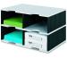 STYRO Schubladenbox Duo grau/schwarz 268-02229 4 Fächer