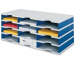 STYRO Schubladenbox Trio grau/blau 268-03041 12 Fächer