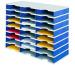 STYRO Schubladenbox Trio grau/blau 268-03081 24 Fächer