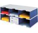 STYRO Schubladenbox Trio grau/blau 268-03221 6 Fächer
