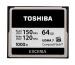 TOSHIBA COMPACT FLASH Exceria 64GB CF-064GTG W120 / R150 silver