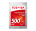 TOSHIBA HDD P300 High Perform. 500GB HDWD105EZ internal, SATA 3.5 inch