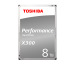 TOSHIBA HDD X300 High Performance 8TB HDWF180EZ internal, SATA 3.5 inch