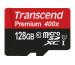 TRANSCEND microSDXC 128GB Premium 400x TS128GUSD (UHS-I, U1) incl. SD-Adapter