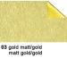 URSUS Bastelfolie Alu 50x80cm 4442103 90g, gold/gold matt