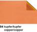 URSUS Bastelfolie Alu 50x80cm 4442104 90g, kupfer