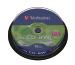 VERBATIM CD-RW Spindle 80MIN/700MB 43480 8-12x 10 Pcs