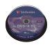 VERBATIM DVD+R Spindle 8.5GB 43666 8x DL Matt Silver 10 Pcs