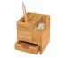 WEDO Tischorganizer 611707 braun 10.3x10.3x11.7 cm