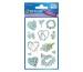 Z-DESIGN Sticker Blumenherzen 54382 1 Blatt, 76x120mm