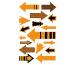 Z-DESIGN Sticker Neon Pfeile 8.4x16cm 55598Z orange 2 Bogen
