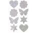 Z-DESIGN Sticker Herz+Co. HOM 8.4x16cm 59390Z grau, refl. 1 Bogen
